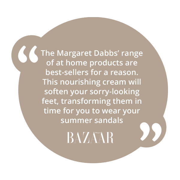 Harper's Bazaar review for Margaret Dabbs London foot hygiene cream