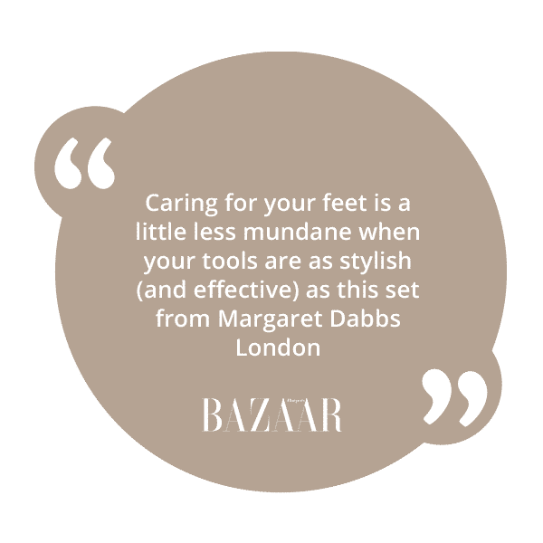 An excellent review of the Margaret Dabbs London Manicure and Pedicure Set from Harper's Bazaar