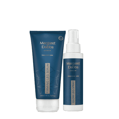 The luxury Leg Firming Serum and Glow Leg Spray for healthy, younger looking legs